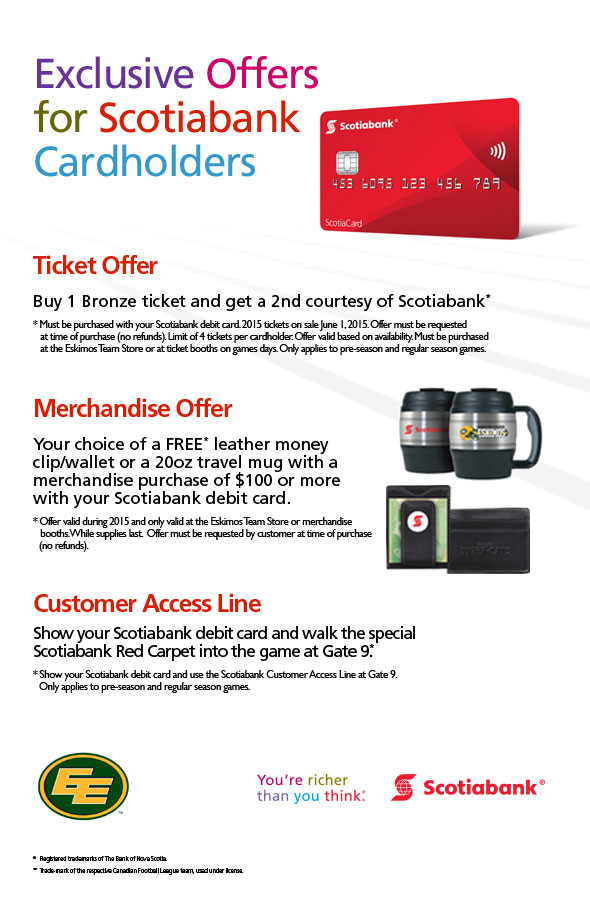Exclusive Offer for Scotiabank Cardholders