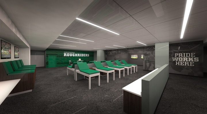 New Mosaic Stadium Rider Football Facility Unveil