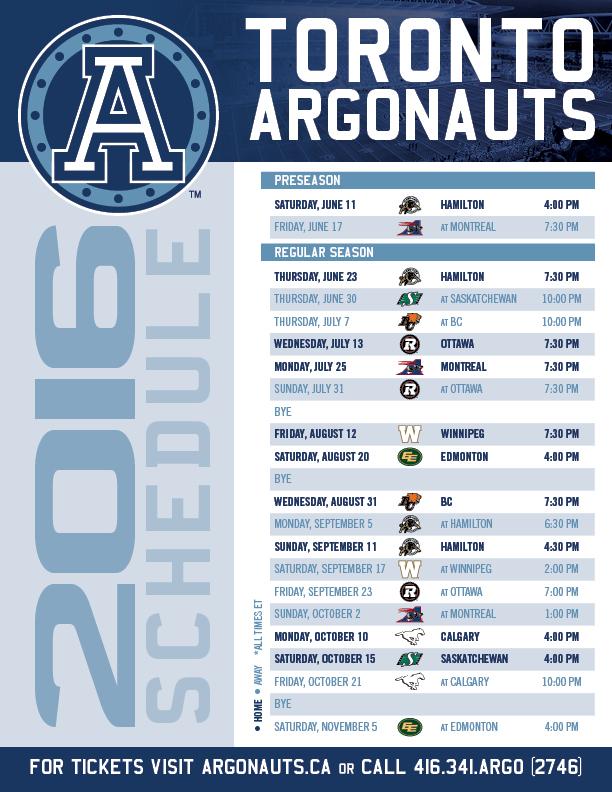 Argos-2016-Schedule